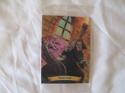 Harry Potter Chocolate Frogs Holographic SEALED Trading Card ~ Severus Snape