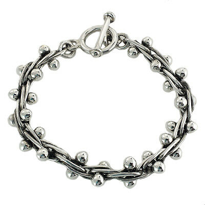 925 VINTAGE DESIGN BERRIES BRACELET | Taxco Mexico Sterling Silver Jewelry