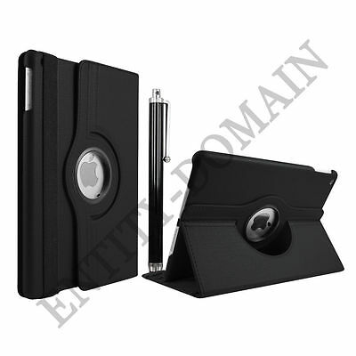 Leather 360 Degree Rotating Smart Stand Case Cover For APPLE iPad 4 - BLACK