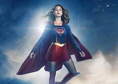 SUPERGIRL MELISSA BENOIST POSTER DC Comics Wall Art Photo Print Poster A3 A4