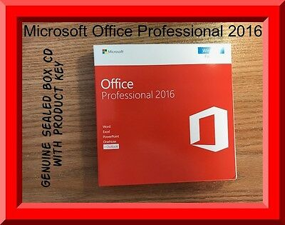 Genuine Sealed box microsoft office Professional 2016 CD key in box by post