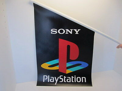 SONY PlayStation Flag Banner Vinyl Promo for Collector NEW Bandiera PS1 PSX