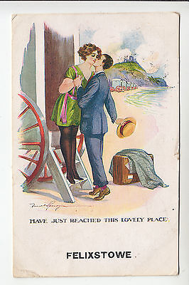 Suffolk/Fred Spurgin: Felixstowe. Man Embraces Woman - Glamour PC PU 1912 (1003)