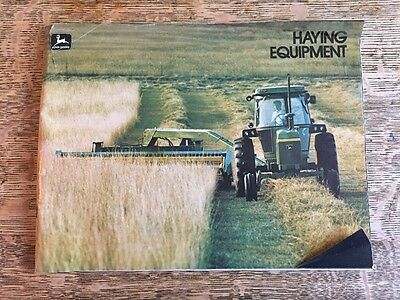 Vintage John Deere Haying Equipment Brochure Baler Swather 1970s