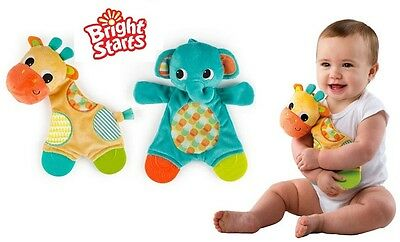 Bright Starts Snuggle and Teethe Elephant/Giraffe - Baby Teething Toy, Teether