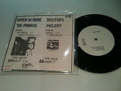 """Synth-pop - When In Rome - The Promise / Visitors - Melody - RARE 7"""" VINYL JAPAN"""