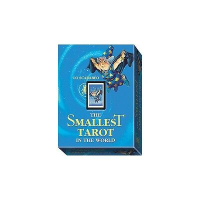 Smallest Tarot Deck in the World - 22 Major Arcana Cards & Instructions 13x22 mm