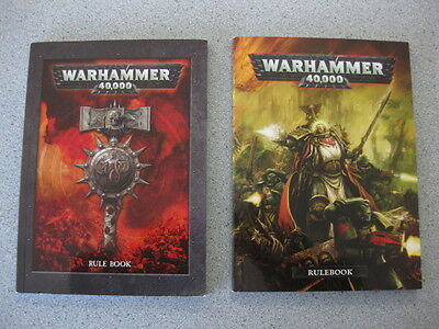 Warhammer 40k Rulebook Softcover Smaller Edition x 2 (5th + 6th Edition?)