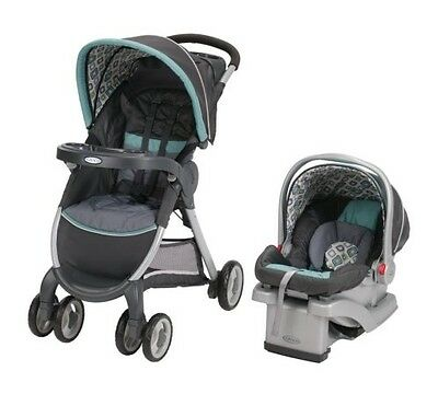 Graco FastAction Fold Click Connect Travel System, Car Seat Stroller Combo
