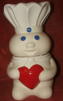 "2011 General Mills Pillsbury and the Doughboy Cookie Jar ""add a little love"""