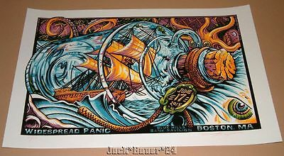 Widespread Panic AJ Masthay Boston Poster Signed Numbered Print Art 2015