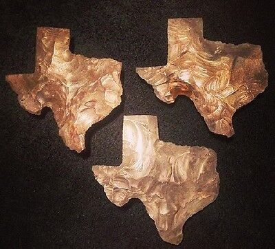 Flint Knapped Texas Stone