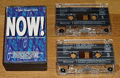 NOW THAT'S WHAT I CALL MUSIC 18 (1990) Double Cassette - 36 Tracks - Fatbox