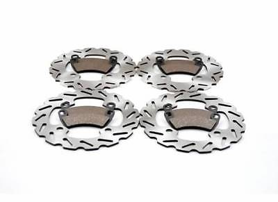 2014 Polaris RZR 4 900 LE EPS Front and Rear Sport Rotor Discs & Brake Pads