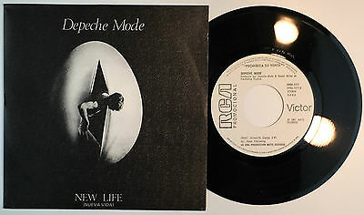 DEPECHE MODE – New Life 45 Spain PROMO – MINT * Orig FIRST 1981 White Label
