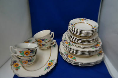 Myott Staffordshire 2635 Art Deco Dinnerware lot of 28