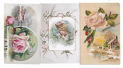 3 Lion Coffee Victorian Trade Cards Woolson Spice Co. Embossed