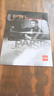 Paiste Cymbals In-Store Artist Poster: Larry Mullen of U2