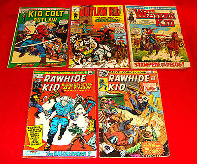 15 Marvel Cowboy Comic Books 1965-76 Kid Colt Outlaw Kid Rawhide Kid Western Kid