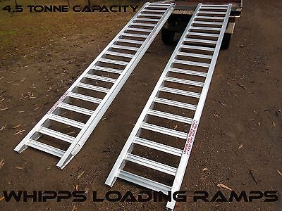 4.5 Tonne Capacity Machinery Bobcat Loading Ramps 3.6 Metres x 450mm track width