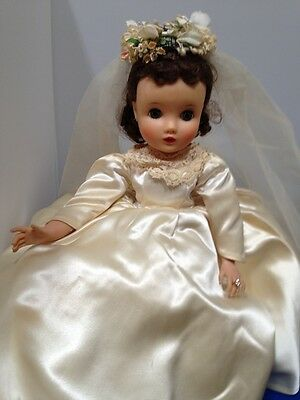 Vtg Madame Alexander Elise Bride Doll Sleepy Eye Jointed Needs Restrung 1950s