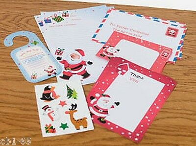 Classic Write to Santa Letter Pack Stickers Door Hanger thank you letters envelo