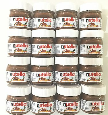 NUTELLA MINI 25g x 24 Pk Glass Jar Ferrero Hazelnut Chocolate Cocoa Cute Limited