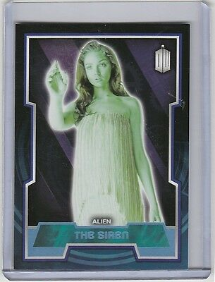 Topps 2015 Doctor Who (109) Blue Parallel base card - The Siren - #065/199