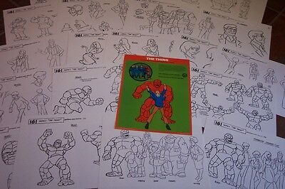 THE THING FANTASTIC 4 ANIMATORS MODEL SHEETS HANNA BARBERA Art Reference Guide