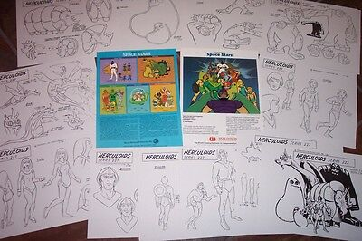 HERCULOIDS SPACE STARS ANIMATORS MODEL SHEETS HANNA BARBERA Art Reference Guide