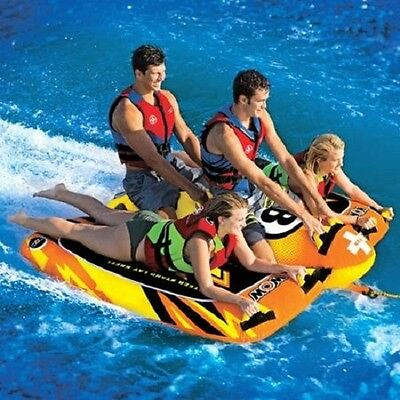 "WOW BOLT 74"" 4 person Towable Winged Water Inner Tube Flex Wing Inflatable NEW"
