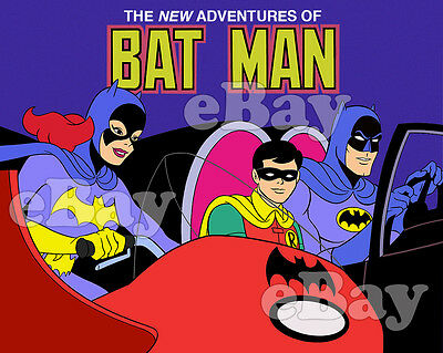 EXTRA LARGE! NEW ADVENTURES OF BATMAN Poster Print FILMATION DC Comics