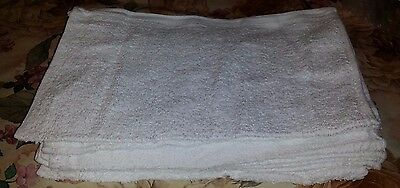10 Multi use Large Ultra Soft Absorbent 100% Cotton Terry Towel Cloths 14x17""