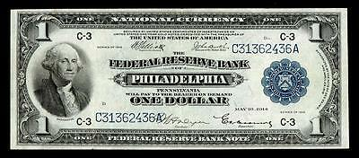 Fr. 716  1918 PHILADELPHIA .PA $1 Large Federal Reserve Note