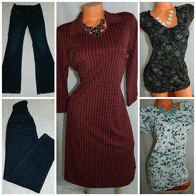 LOT (5) MATERNITY Medium 6 8 JEANS DRESS TUNICS Old Navy OUTFIT Career Casual