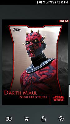Star Wars Card Trader S1 Red Nightbrothers