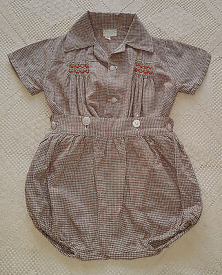 VNTAGE BABY BOY'S ROMPER SUIT 1940's ~ COLLECTORS, ANTIQUE, REBORN DOLLS, BEARS