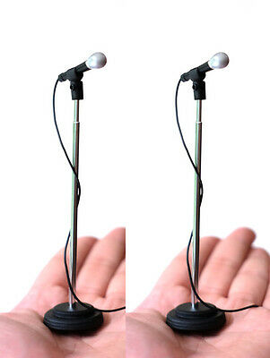 2 Adjustable Miniature Microphones to compliment Rock Star statue & stage