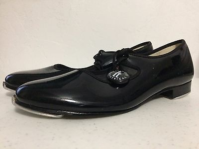 ! CLEARANCE ! Girl's Size 1M Illinois Theatrical Footwear Black Patent Tap Shoes