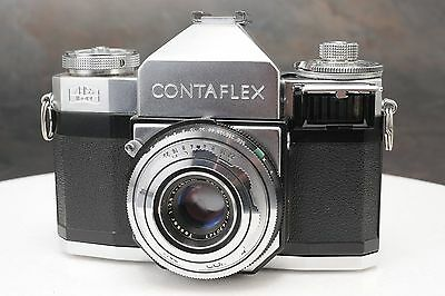 :Zeiss Ikon Contaflex II 35mm film SLR Camera Tessar 45mm F2.8 Lens - Read