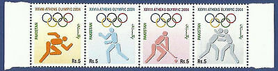 Pakistan 2004 Mnh Athens Olympic Games Se-Tenant Olympics Sports Boxing Hockey