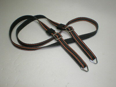 Vintage Textile Canon Camera Strap w/ Buckles and Rings