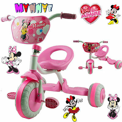 Disney Minnie Mouse Bike Trike Tricycle Kid Girl Child 3 Wheel Car Ride On Toy