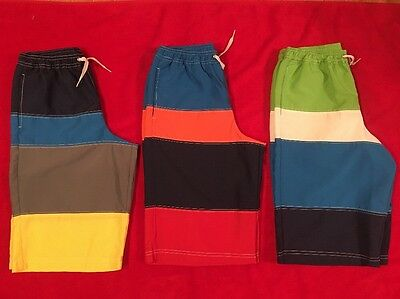 Hanna Andersson Boy's Colorblock Board Shorts UPF 50+ sz 160/ 12-teen *EUC*read