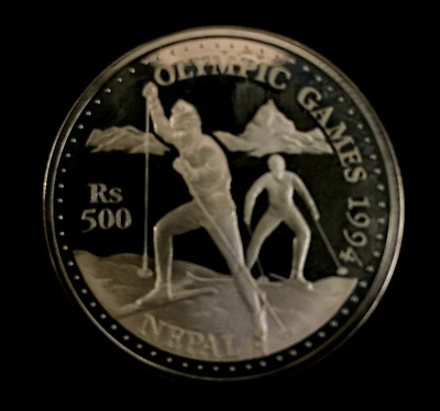 XVII winter Olympic Games, Lillehammer 1994 Cross-country skiing 1oz Silver Coin
