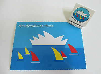 Sydney Opera House - Postcard and Matchbook or Matches - Barrie Tucker - 1980s