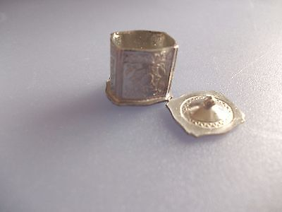 Silver Coloured Tea Caddie And Loose Tea  For A Dolls House