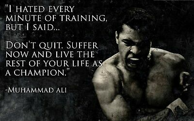 Muhammad Ali Quotes/ High Quality Canvas home wall art &Decor