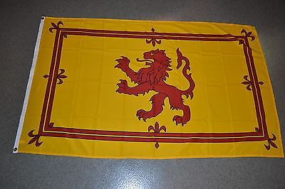 Scotland Large 3' x 5' National Flag Rampant Lion YELLOW/RED 3x5 Banner