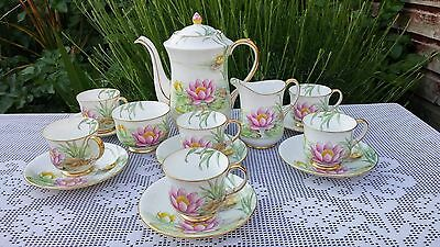 Aynsley Pink Water Lily pattern B3527 Coffee set